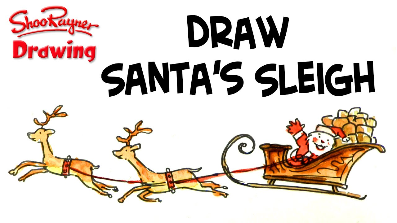 1280x720 How To Draw Santa And His Sleigh