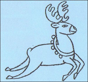 300x279 How To Draw Rudolph The Red Nosed Reindeer
