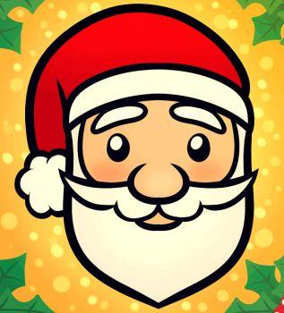 317x350 Cartoon Santa Face Cartoon Santa Face Backgrounds