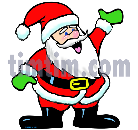 582x548 Free Drawing Of A Waving Santa Claus From The Category Christmas