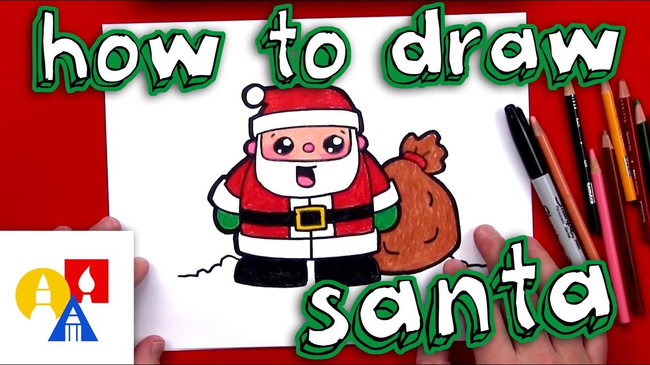 1280x720 How To Draw Cartoon Santa Claus