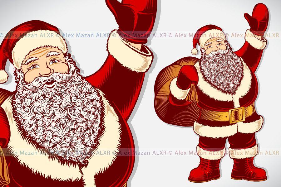 900x600 Vector Santa Claus Cartoon Character Vi Design Bundles