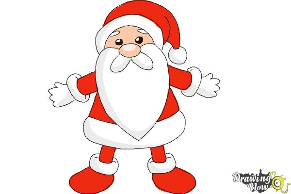 600x400 How to Draw Cute Santa Claus