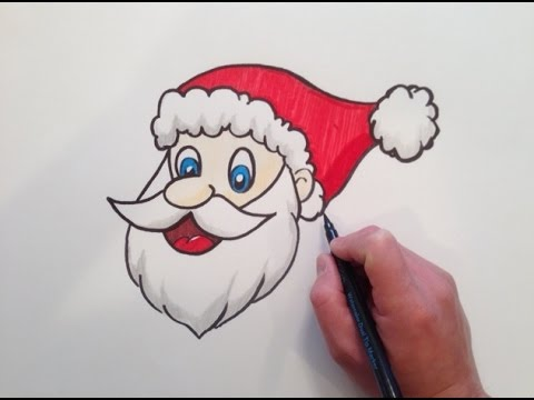 480x360 How to draw Santa Claus Head