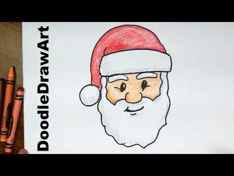 480x360 Drawing How To Draw Santa Claus Face! Step By Step Lesson Cartoon