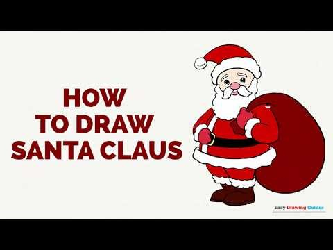 480x360 How To Draw Santa Claus In A Few Easy Steps Drawing Tutorial