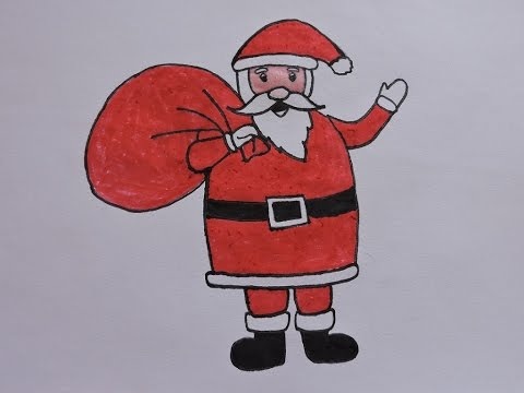 480x360 How To Draw Santa Claus
