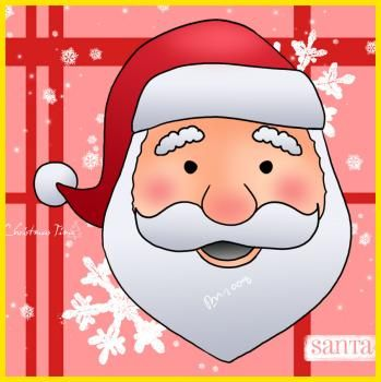 349x350 Santa Face Drawing Tutorial Christmas! The Most Wonderful Time