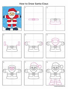 236x310 Art Projects For Kids How To Draw Santa Claus. Printable Pdf