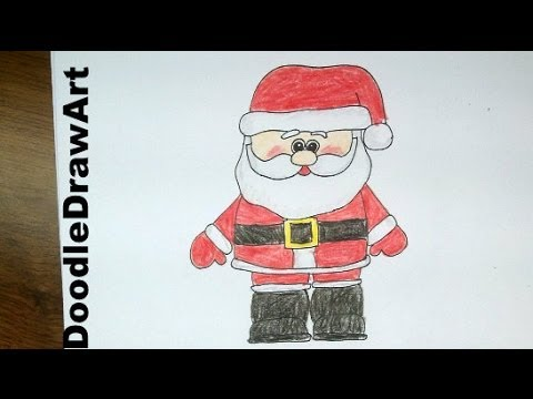 480x360 Drawing How To Draw A Cute Cartoon Santa Claus