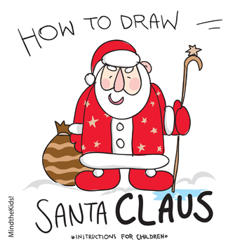 352x352 Mind The Kids How To Draw Santa Claus