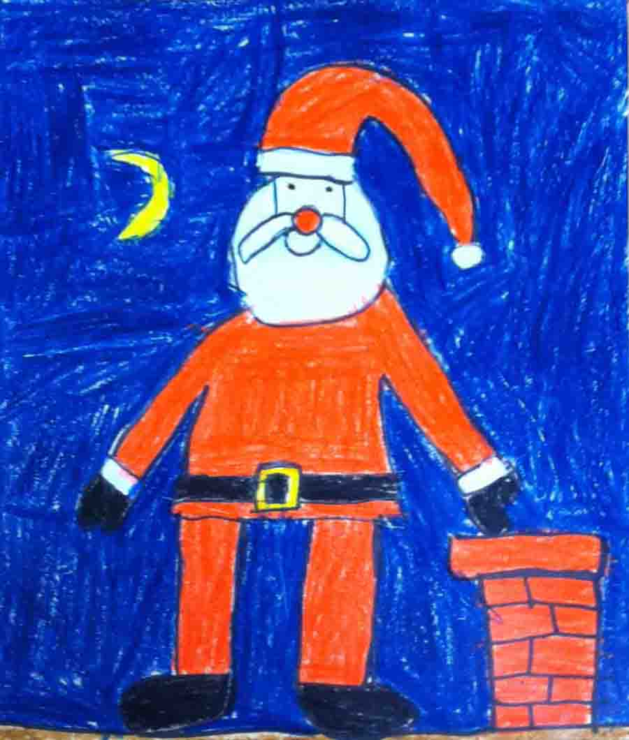 900x1060 Santa Claus Drawing Art Projects For Kids