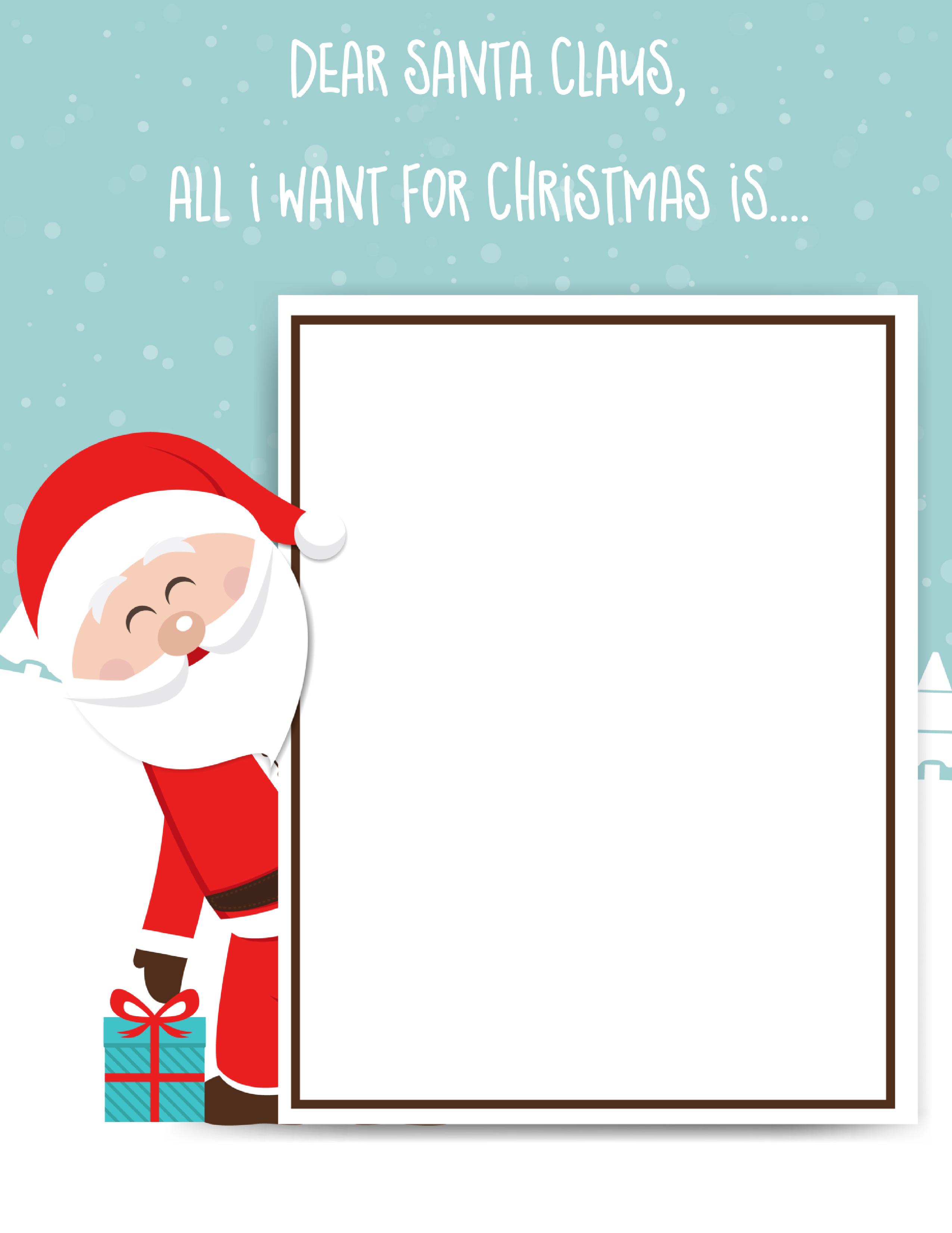 2550x3300 Santa Claus Letter Free Printable For Kids