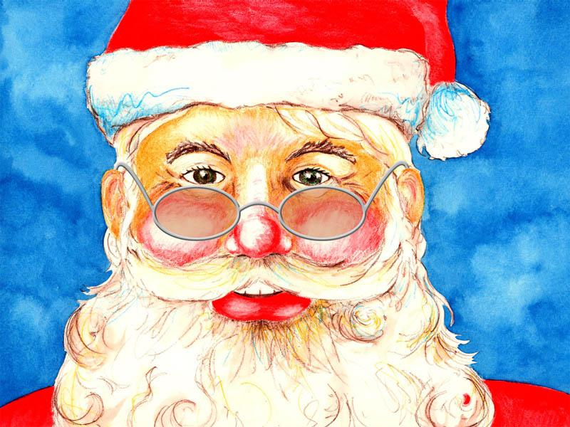 800x600 Santa Claus. Holidays. Drawings. Pictures. Drawings Ideas For Kids
