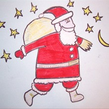 220x220 Santa Free Printable Coloring Pages, Crafts, Games And Activites