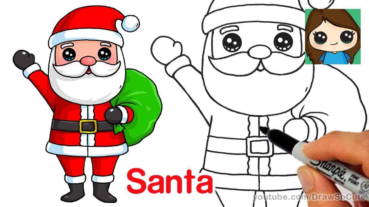 1280x720 How To Draw Santa Claus Easy