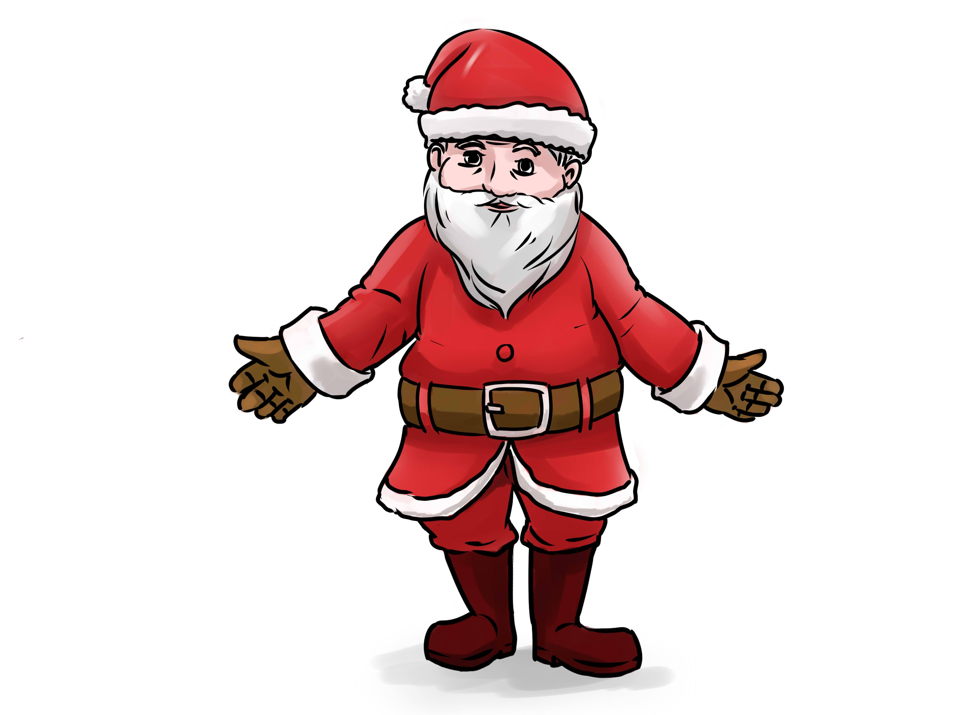 3200x2400 Santa Claus Drawing Free Draw To Color