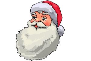 300x200 How To Draw Santa Claus Face