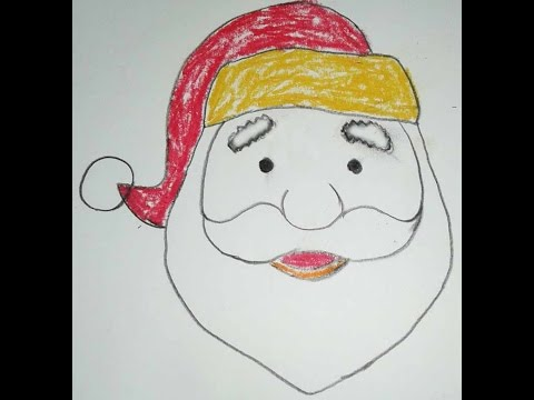 480x360 How To Draw Santa Claus Face Step By Step Easy Way Drawing Santa
