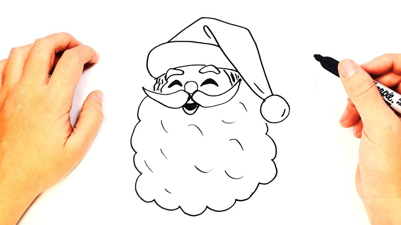 santa claus face drawing at getdrawingscom free for