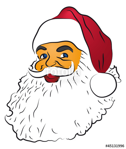 423x500 coloured santa claus drawing stock image and royalty free vector - Pictures Of Santa Claus To Color