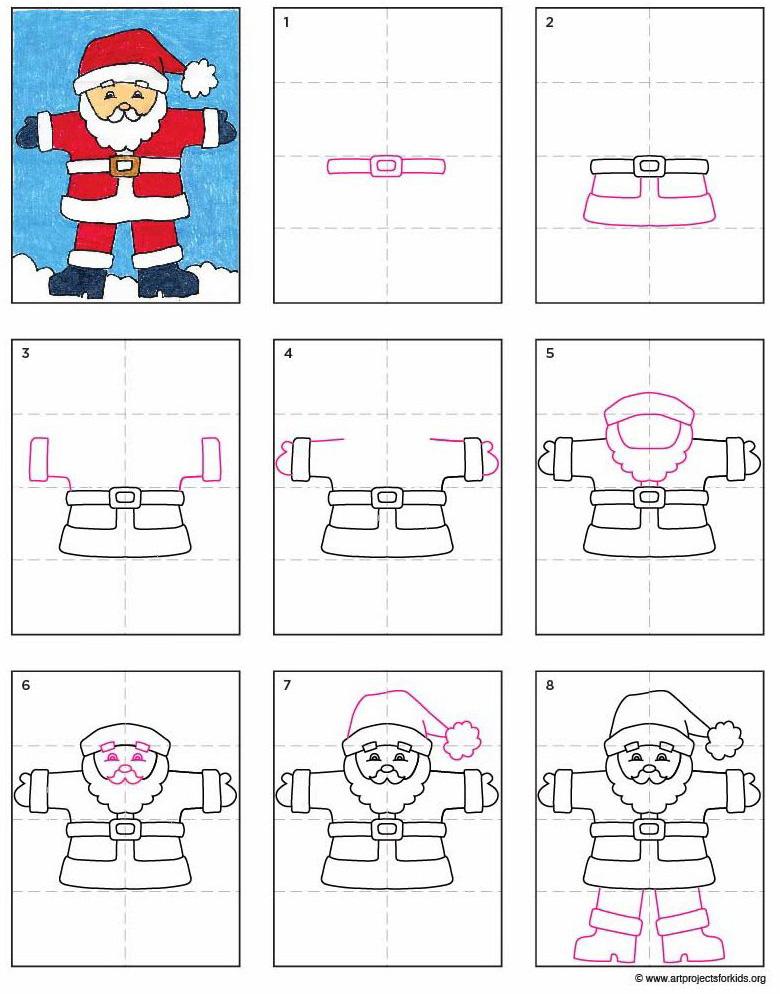 780x994 A Santa Claus Drawing