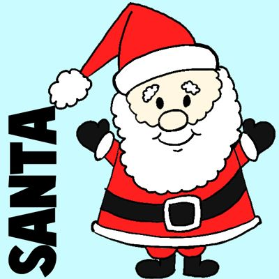 400x400 Easy Instructions For How To Draw Santa Clause For Kids Santa