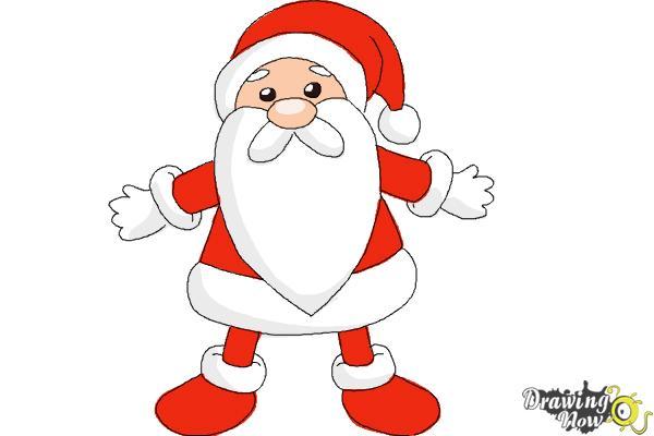 600x400 How To Draw Cute Santa Claus