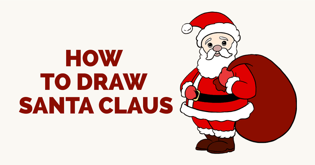 1200x628 How To Draw Santa Claus In A Few Easy Steps Easy Drawing Guides