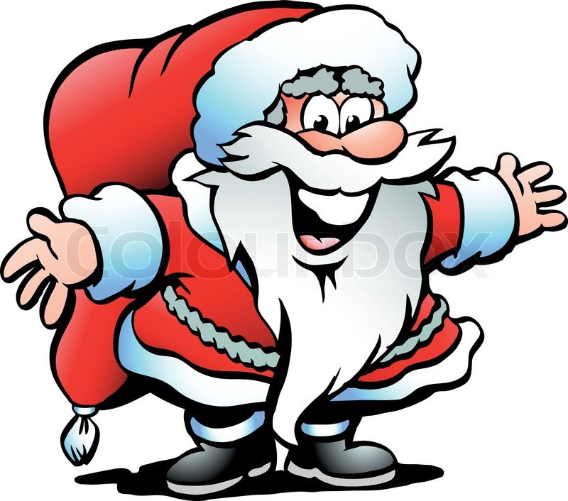 800x706 Hand Drawn Vector Illustration Of An Santa Claus Stock Vector