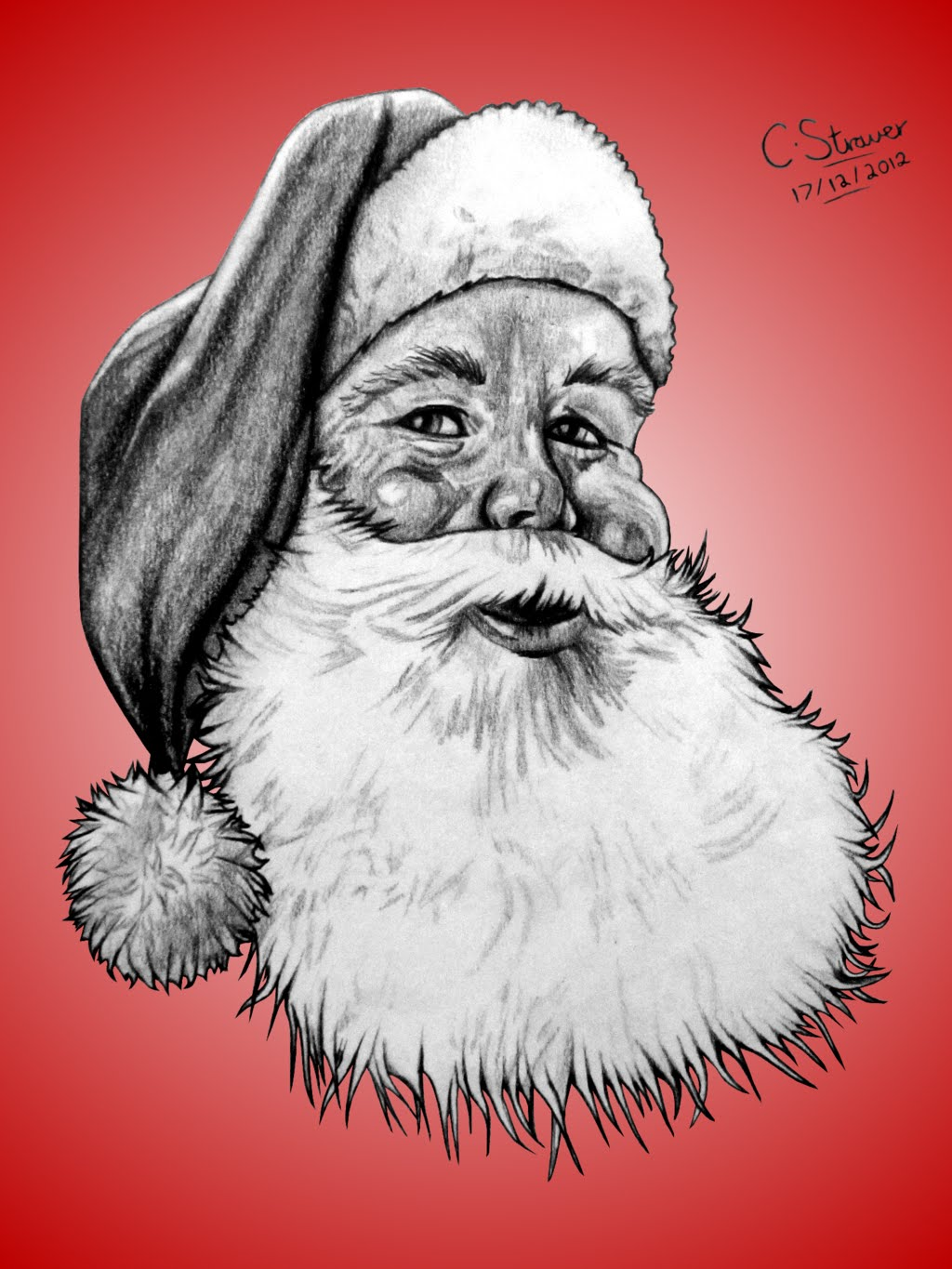 1024x1365 How To Draw Santa Cruise With Pencil (Merry Christmas Day)