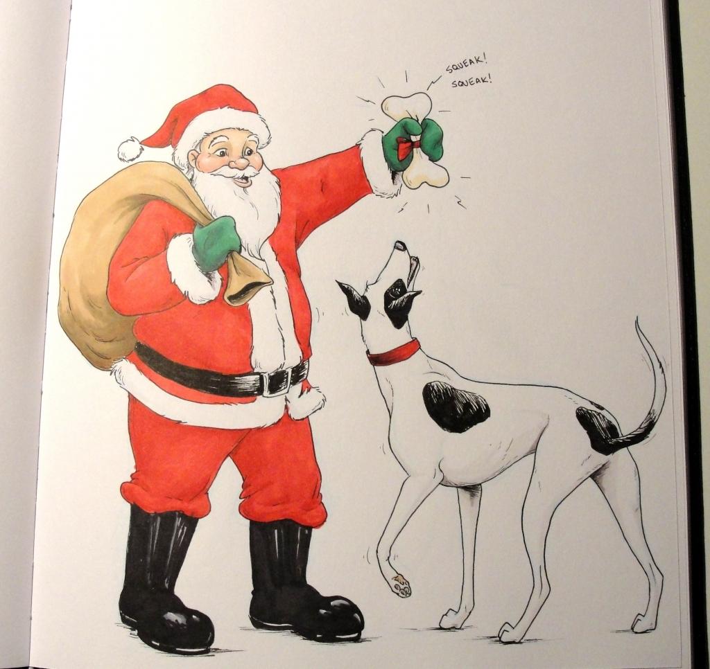 1024x966 Santa Claus Sketch Pencil Drawing
