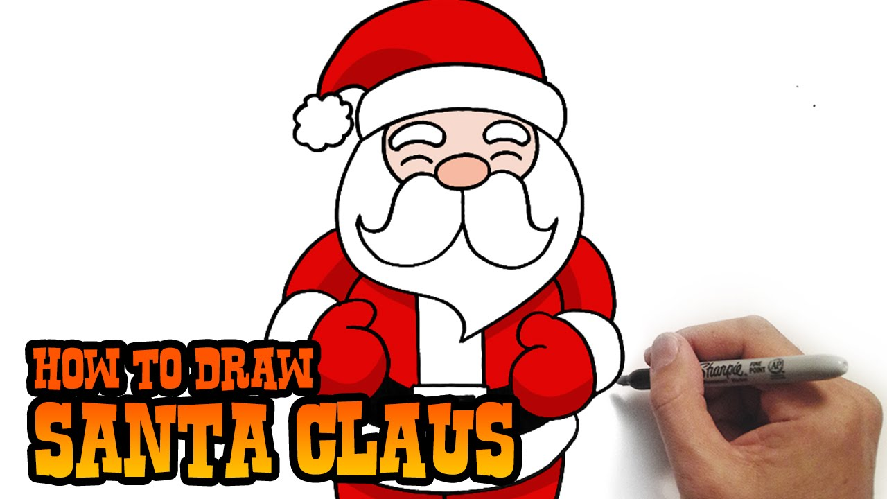 1280x720 How To Draw Santa Claus Simple And Easy Lesson