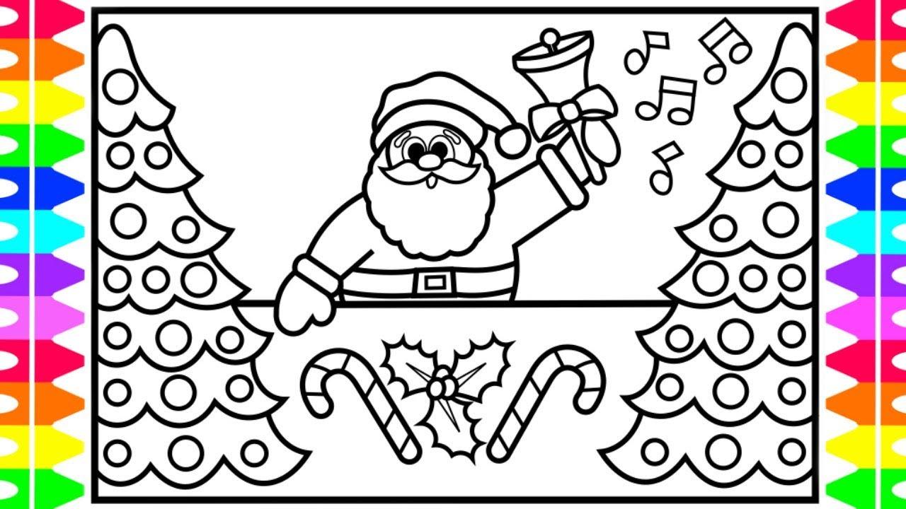 1280x720 How To Draw Santa Claus Jingle Bells Santa Drawing Step By Step