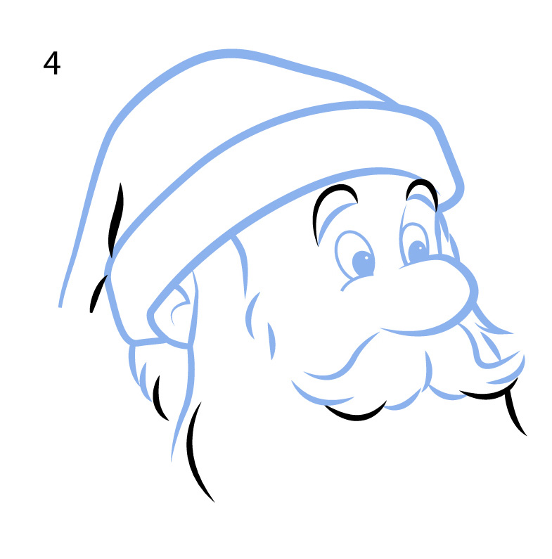 785x795 How To Draw Santa Claus In 8 Easy Steps