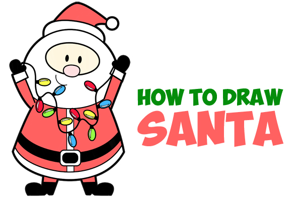 600x400 Drawing Santa Claus Archives