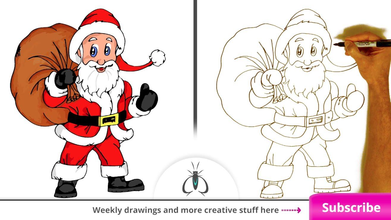 Santa Drawing Easy At Getdrawings Com Free For Personal Use Santa