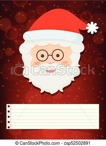 340x470 Christmas Card Template With Santa Illustration Eps Vectors