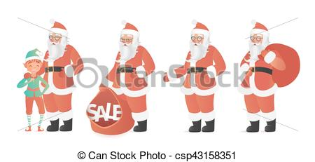 450x231 Design Template With Santa Claus And Elf Vector Clipart Vector