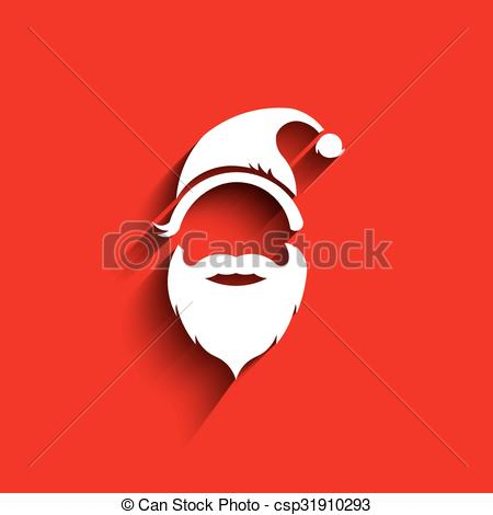 450x470 Santa Hat, Moustache With Beard. Eps Vectors