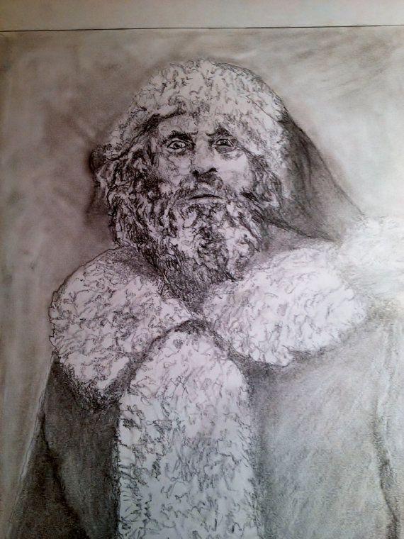 570x760 Psycho Santa Original Pencil Drawing From American By Chunkowood