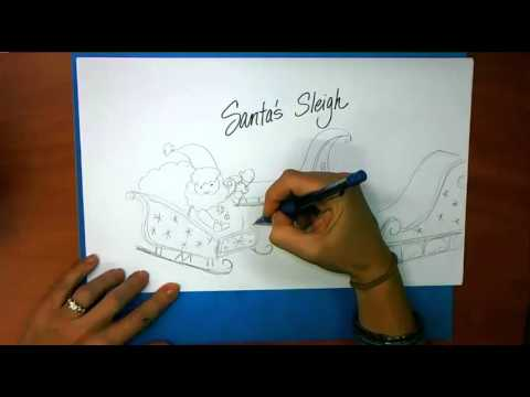 480x360 How To Draw Santa's Sleigh