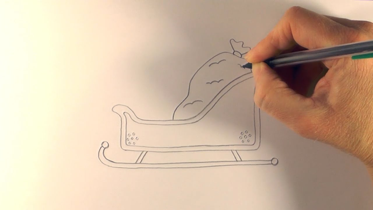 1280x720 R.e.a.p How To Draw A Cartoon Santa's Sleigh