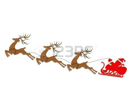 450x351 Santa And Sliegh Riding On His Sleigh With 4 Reindeer Santa Sleigh