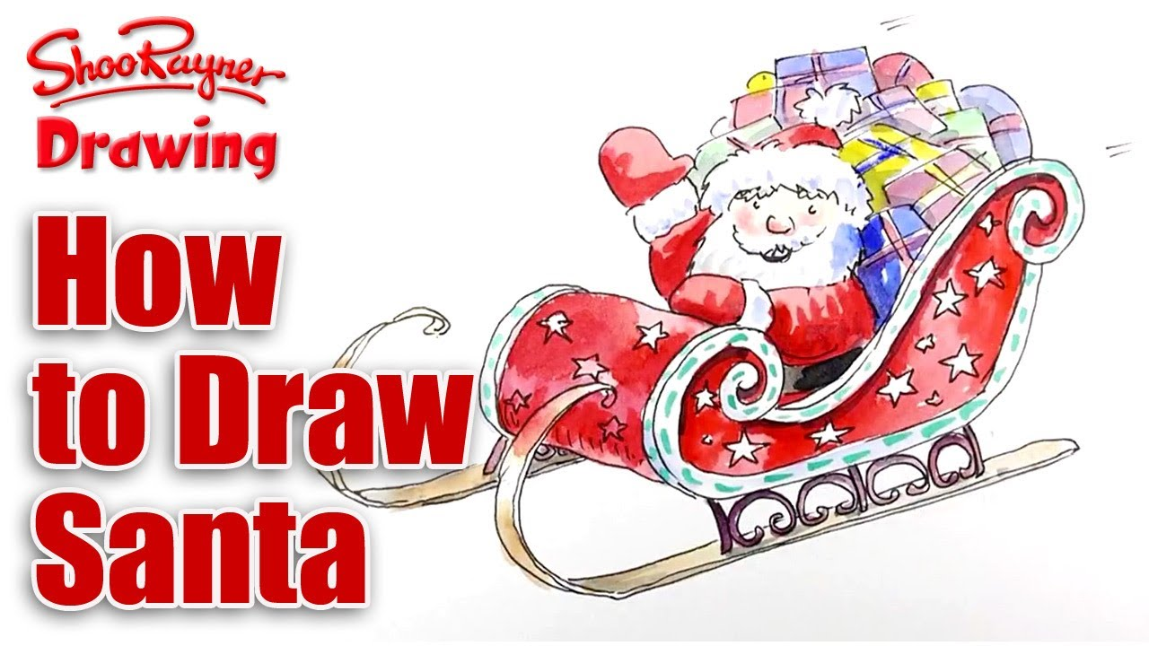 Finest Santas Sleigh Drawing at GetDrawings.com | Free for personal use  VM09