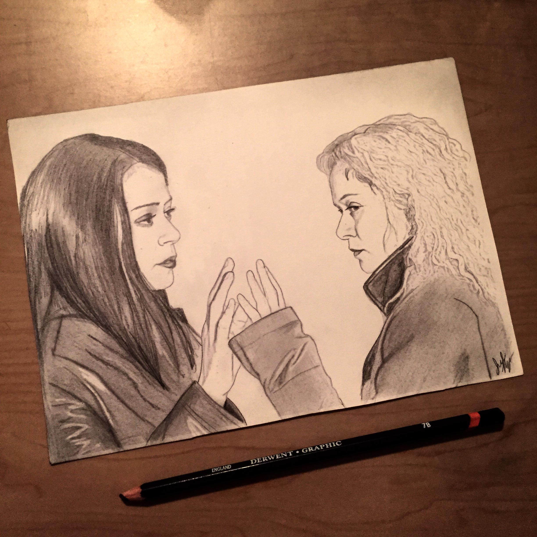 2448x2448 Sarah And Helena (Orphan Black Drawing) My Art