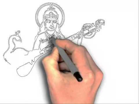 480x360 How To Draw Saraswati