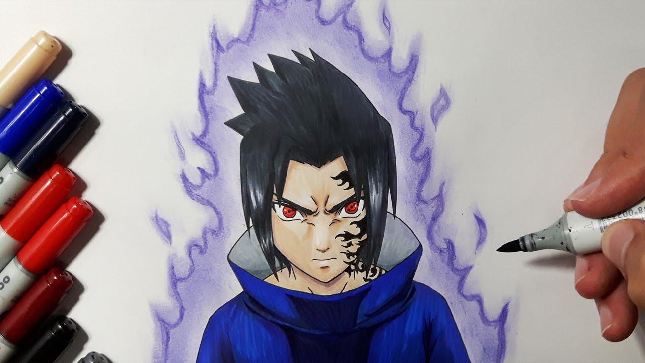 1299x731 How To Draw Sasuke Uchiha