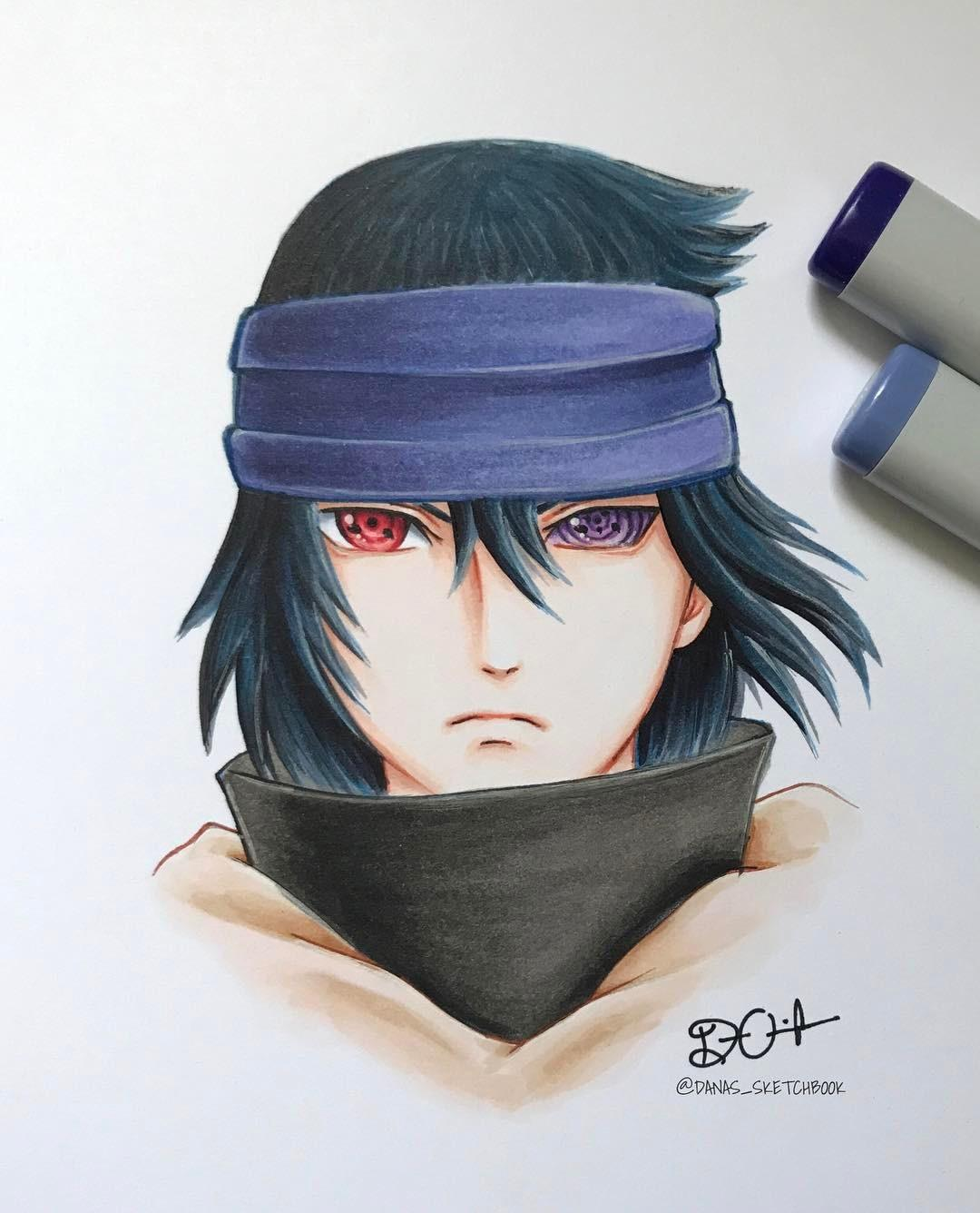 1080x1336 Sasuke The Last Drawing By Danas Sketchbook Via Instagram Naruto