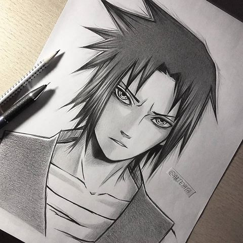 480x480 Uchiha Sasuke I Was In A Mood To Draw This Pretty Face Today